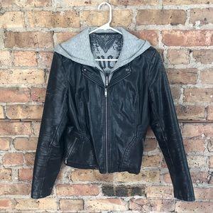 Vintage Guess faux-leather jacket
